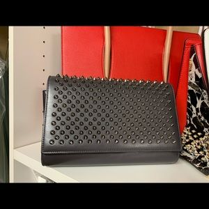 Paloma Clutch with Spikes Blue/Grey